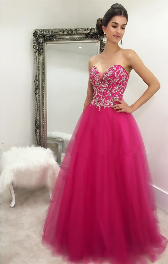 Prom Dresssweetheart Prom Dressball Prom Dress Longbeaded
