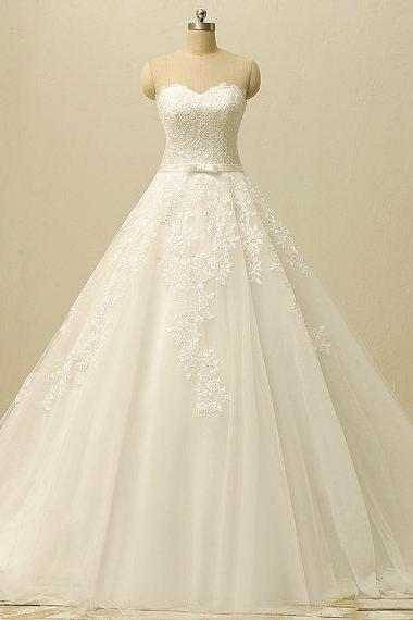 A-line Sweetheart Wedding Dresses Bridal Gowns UK12194
